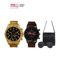 MIKE Watch นาฬิกาข้อมือ รุ่น Classic Gold สีทอง 1 เรือน พร้อมของแถม