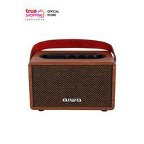 AIWA Bluetooth Speaker ลำโพงบลูทูธพกพา รุ่น MI-X100 Pro Retro X BASS++ สีน้ำตาล 1 ชิ้น