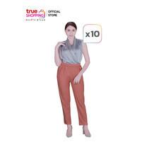 Araya อารยา กางเกงบอลลูน สไตล์เกาหลี คละสี Free Size (10 ตัว)