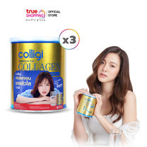 Colligi Collagen ผลิตภัณฑ์เสริมอาหาร 3 กระป๋อง
