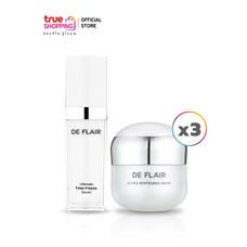 DE FLAIR Ultimate Time Freeze Serum 1 ชิ้น แถมฟรี Ultra Whitening Mask 3 ชิ้น