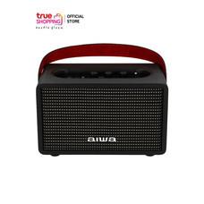 AIWA Bluetooth Speaker ลำโพงบลูทูธพกพา รุ่น MI-X100 Pro Retro X BASS++ สีดำ 1 ชิ้น