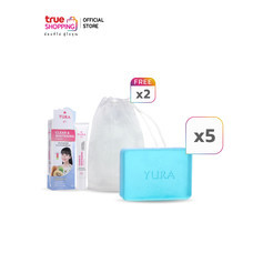 Yura Beauty Facial Soap Arbutin สบู่ก้อน 100 กรัม 5 ชิ้น พร้อมของแถม