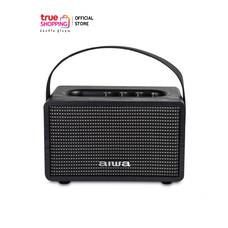 AIWA Bluetooth Speaker ลำโพงบลูทูธพกพา รุ่น MI-X100 Retro BASS++ สีดำ 1 ชิ้น