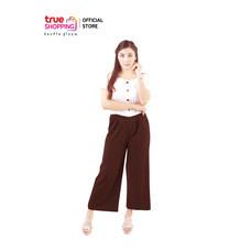 Araya  อารยากางเกงสวมสบาย สีอิฐ