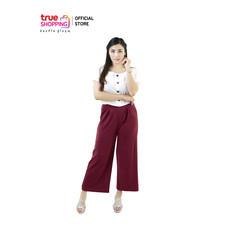 Araya  อารยากางเกงสวมสบาย สีเลือดหมู