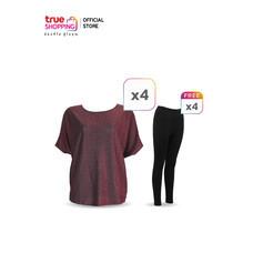 Flora เสื้อกลิตเตอร์ 4 ตัว แถมฟรี กางเกงเลกกิง 4 ตัว