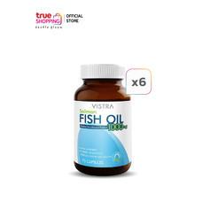 Vistra Fish Oil น้ำมันปลาแซลมอน 75 แคปซูล เซต 6 กระปุก
