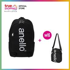 Trueshopping กระเป๋า Anello Big Logo Print Daypack - Black