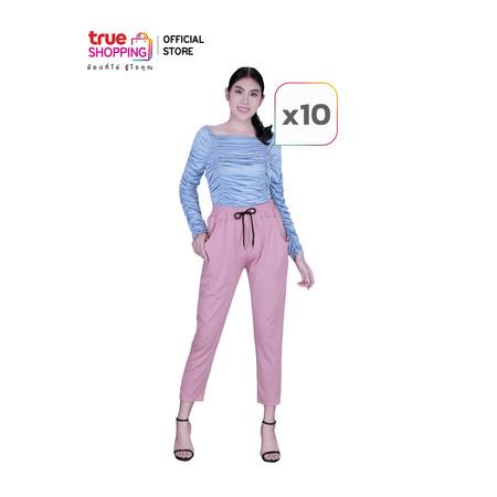 Araya อารยา กางเกงหุ่นเพรียว สไตล์เกาหลี คละสี Free Size (10 ตัว)