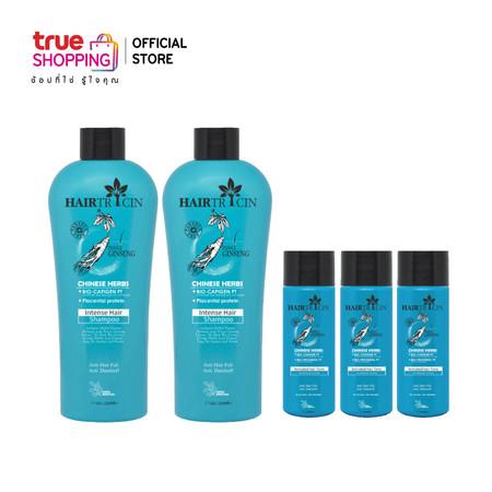 Hairtricin hair ผลิตภัณฑ์ดูแลเส้นผม แชมพู 220 ml. 2ขวด และ แฮร์โทนิค 50 ml. 3ขวด