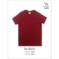 Barbari เสื้อยืดคอวี Premium Cotton 100% ใส่ได้ทั้งผู้ชายผู้หญิง สีแดง