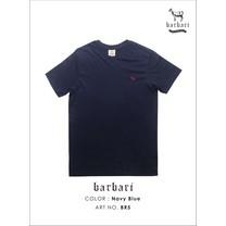 Barbari เสื้อยืดคอวี Premium Cotton 100% ใส่ได้ทั้งผู้ชายผู้หญิง สีกรม