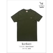 Barbari เสื้อยืดคอวี Premium Cotton 100% ใส่ได้ทั้งผู้ชายผู้หญิง สีเขียว