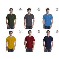 Barbari เสื้อยืดคอวี Premium Cotton 100%  ใส่ได้ทั้งผู้ชายผู้หญิง สีมัสตาร์ด (BR5)