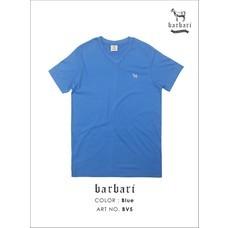 Barbari เสื้อยืดคอวี Premium Cotton 100%  ใส่ได้ทั้งผู้ชายผู้หญิง สีฟ้า