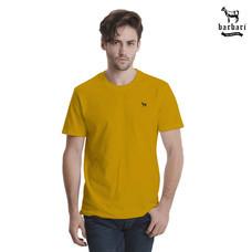 Barbari เสื้อยืดคอกลม  Premium Cotton 100%  ใส่ได้ทั้งผู้ชายผู้หญิง สีมัสตาร์ด (BR5)