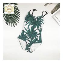 Wolfox ชุดว่ายน้ำวันพีช รุ่น Green Leaf - สีเขียว