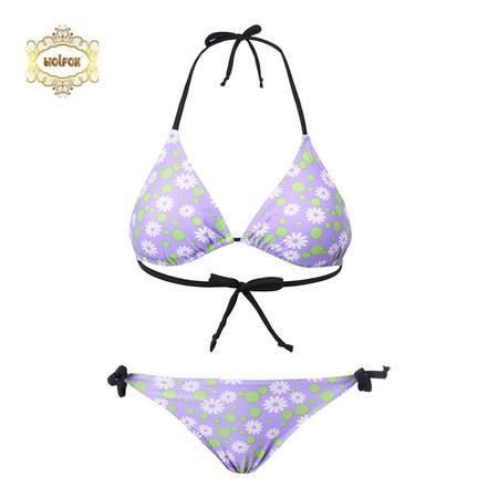 Wolfox ชุดว่ายน้ำ (บิกินี่) รุ่น Floral - สีม่วง