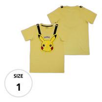 เสื้อยืดพิคาชู (กระเป๋าถอดได้) TPM105-07/S1