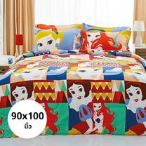 ผ้าห่ม ผ้านวม ลายเจ้าหญิง ขนาด 90x100 นิ้ว DLC001