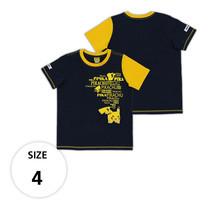 เสื้อยืดพิคาชู แขนตัดสีเหลือง TPM105-51/S4