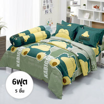 ผ้าปูที่นอน ลายโปเกมอน ขนาด 6 ฟุต 5 ชิ้น (DLC015)