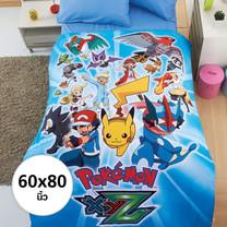 ผ้าห่มนวม 60 X 80 นิ้ว Digital Print ลายโปเกมอน (MD009)