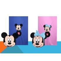 หมอนผ้าห่ม Mickey Mouse - Minnie Mouse จำนวน 2 ชิ้น