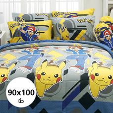ผ้านวม ลายโปเกมอน ขนาด 90 X 100 นิ้ว (DLC014)