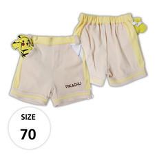 กางเกงขาสั้นผ้ายืด มีพิคาชูที่กระเป๋าด้านหน้า TPM019-01/S70