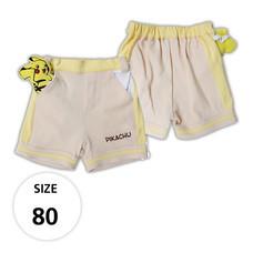 กางเกงขาสั้นผ้ายืด มีพิคาชูที่กระเป๋าด้านหน้า TPM019-01/S80