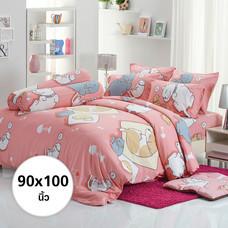 ผ้าห่ม ผ้านวม ลายหมาจ๋า ขนาด 90x100 นิ้ว DLC043