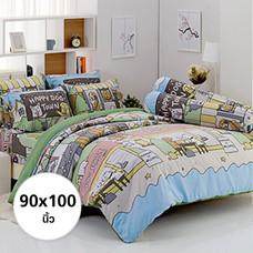ผ้าห่ม ผ้านวม ลายหมาจ๋า ขนาด 90x100 นิ้ว DLC073