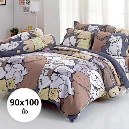 ผ้าห่ม ผ้านวม ลายหมาจ๋า ขนาด 90x100 นิ้ว DLC076