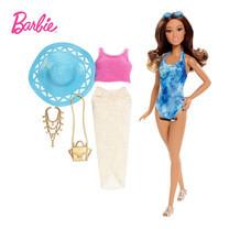 Barbie Glam Vacation Doll Trendy Tie-Dye ตุ๊กตาบาร์บี้ปาร์ตี้ชายหาด ชุดสีฟ้ามัดย้อม