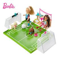 Barbie Chelsea Doll with Soccer Playset and Accessories ตุ๊กตาบาร์บี้เชลซี พร้อมชุดเล่นฟุตบอล GHK37