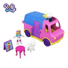 Polly Pocket Pollyville Ice Cream Truck ตุ๊กตาพอลลี่ พ็อกเก็ต พอลลี่วิลล์ ไอศกรีม ทรัค รถขายไอศกรีม