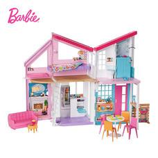Barbie Malibu House Playset เพลย์เซตบ้านตุ๊กตาบาร์บี มาลีบลู