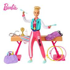 Barbie Gymnastics Playset with Doll, 15+ Accessories ตุ๊กตาบาร์บี้ ยิมนาสติก GJM72