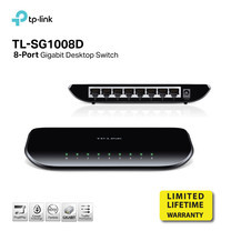 TP-LINK TL-SG1008D 8-port Desktop Gigabit Switch, 8 10/100/1000M RJ45 ports, plastic case by Speed Computer