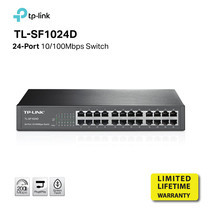 TP-LINK TL-SF1024D 24-port 10/100M mini Desktop Switch 13-inch by Speed Computer