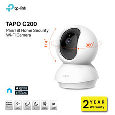 TP-LINK TAPO C200 CAMERA PAN TO TILT SECURITY WIFI FULL HD 1080P TWO-WAY AUDIO NIGHT VISION MOTION DETECTION PRIVACY MODE 2YEAR by Speed Computer