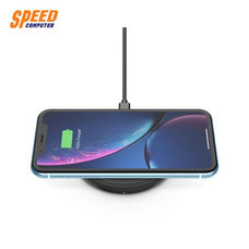 BOOST↑UP™ Bold Wireless Charging Pad 10W with QC3.0 USB Wall Charger and 4 Feet Micro-USB Cable - Black