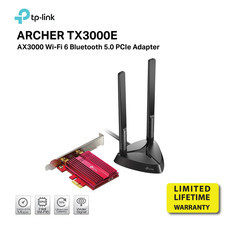 TP-LINK AX3000 ARCHER TX3000E WIRELESS PCIE ADAPTER AC3000E DUAL BAND by Speed Computer