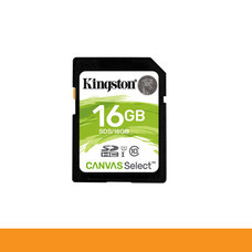 KINGSTON SDS/16GB CARD SD 16GB CLASS 10 R80 MB/s,W10 MB/s by Speed Computer