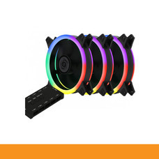 NEOLUTION E-SPORT DOUBLE RING SPECTRUM RGB LED LIGHT WITH CONTORLLER SYSTEM by speed computer