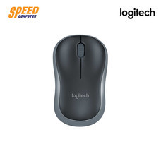 MOUSE (เมาส์) LOGITECH M185 COMPACT WIRELESS MOUSE GREY by Speed Computer