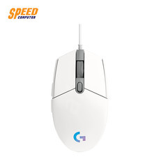 GAMING MOUSE (เมาส์เกมมิ่ง) LOGITECH GAMING MOUSE G102 LIGHTSYNC WHITE by Speed Computer