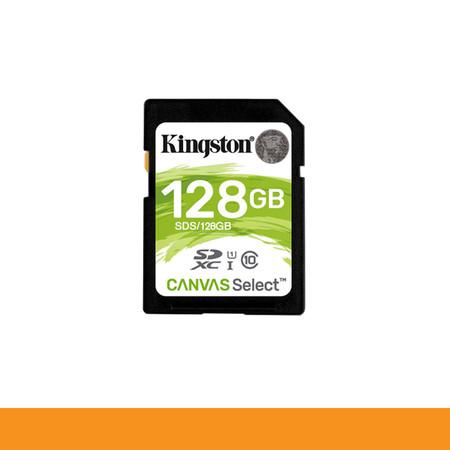 KINGSTON SDS/128GB CARD SD 128GB CLASS 10 R80 MB/s,W10 MB/s by speed com